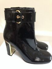 NEW ASH Designer Black Patent Leather Ankle Boots EU 36, UK 3 to 3.5, RRP £295