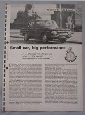 1965 Renault 1100 Saloon Original Motor magazine Road test