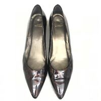 Wknd Sales!!!  Stuart Weitzman Pointed Toe Patent Leather Pump Wedge Size 10N