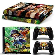 One Piece Anime Straw Hat Pirate Luffy Ace Sabo Skin Sticker Decal Protector PS4