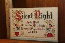 Vintage 1940's Christmas Card Silent Night