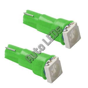 1 Green 5050 SMD LED T5 Wedge 12v Interior LED Bulb