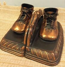 Set of Vintage Mid Century Copper Child'S Shoes Bookends