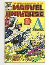 Official Handbook Of The Marvel Universe #1 1983 VG Abomination to Avengers