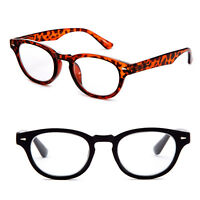 Horn Rimmed Reading Glasses Key Hole Frame Classic Fashionable Style