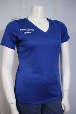 Sport-Tek Misses LARGE Curves Jenny Craig Coach Blue V-neck SS Shirt T-shirt