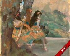 POLYNESIAN THEME BALLET DANCERS ON STAGE DEGAS PAINTING ART REAL CANVAS PRINT