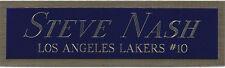 STEVE NASH LA LAKERS NAMEPLATE AUTOGRAPHED Signed BASKETBALL- JERSEY-PHOTO-FLOOR