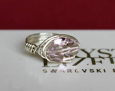 Cosmic Crystal Wrap Ring made with Light Amethyst Swarovski Crystal Elements