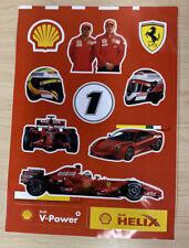 RARE Scuderia Ferrari F1 Formula 1 Shell Raikkonen / Massa STICKERS
