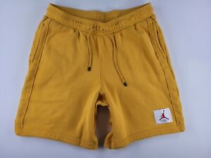 Mens Air Jordan Flight Fleece Shorts Mustard Yellow Size XL Tall CN3821-711