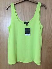 Topshop Neon Green Yellow Cami Top Size 6