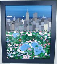 Original Oil Painting Patricia Palermino New York City NYC Central Park Folk Art