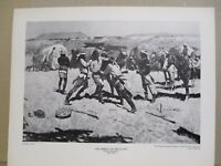 REMINGTON Print ~ARREST of the SCOUT~ Vintage Print from Gilcrease Museum