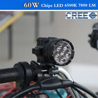 1PC Universal CREE Chips LED Motorcycle headlights Motos Bulb 60W 6500K 7800 LM