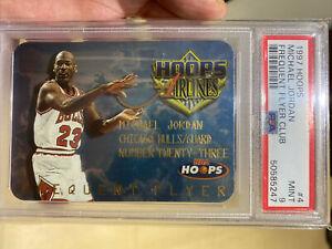 1997-98 Hoops Frequent Flyer Club Michael Jordan Card #4 PSA MINT 9 Grade POP 90