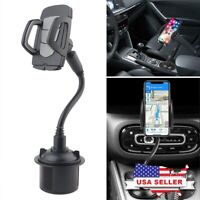 Universal Car 360°Adjustable Gooseneck Cup Holder Mount for Phone Samsung iPhone