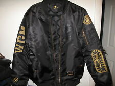 Bathing Ape BAPE Chris Brown collaboration NYLON (not leather) bomber jacket