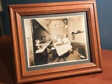 Early Antique Photograph - Barber Shop Shaving Beard Grooming