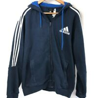 Adidas Hoodie - Men's L - Navy - Hooded Sweatshirt - Great Condition A2-02