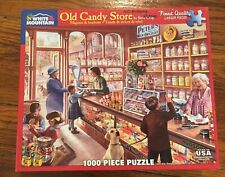 White Mountain 1000 Puzzle Old Candy Store Used