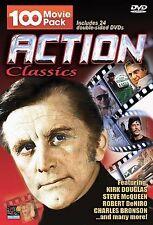 Action Classics 100 Movie Pack - 24 DVD's. NEW Douglas, McQueen, DeNiro, Bronson