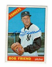 1966 Topps Bob Friend Auto Signed Card #519