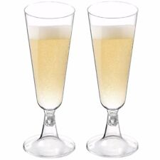 CHAMPAGNE FLUTES Wedding/Party Strong Plastic Prosecco/Wine Drinking Glasses