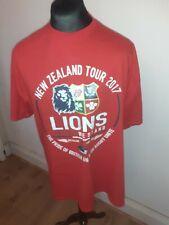 British & Irish Lions Rugby 2017 New Zealand Tour T-shirt - Size XXL- RED UNWORN