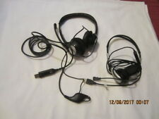 Lot of Two Preowned Headphones - Logitech and No Name Brand - Sold AS IS