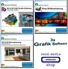 Grafik Software Paket, 3D Raumplanung,Hausplanung, CAD, Bildbearbeitung Download