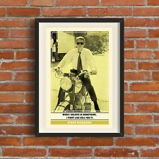 Steve McQueen Quote Print | Quality A3 Poster Escape Pop Art Retro Gift Dad