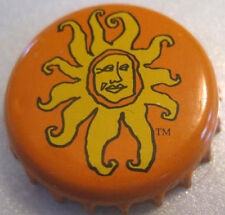 OBERON ALE Beer CROWN, Bottle CAP with MAN'S FACE in Sunburst, Bell's, MICHIGAN