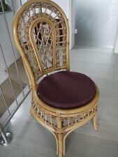 Stuhlkissen rund 40 Ø cm x 4 cm Sitzkissen violett , 50% Baumwolle 50% Polyester