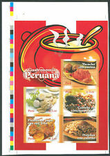 PERU 2009 TYPICAL FOODS Imperforate Mint NH VF