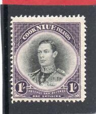 Niue GV1 1938 1s. black & violet sg 75 H.Mint