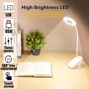Kinder Leselampe Klemmleuchte USB Dimmbar LED Bettlampe Schreibtischleuchte ~