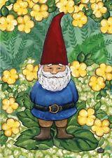 Toland Home Garden Garden Gnome Garden Flag 119118 , New, Free Shipping