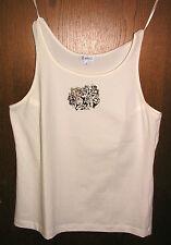 Erfo Damen Träger-Shirt / Top, creme-weiß, Gr. 46 L, NEU