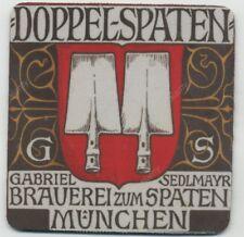 Löwenkopfterrine Deutsche Bier Untersetzer-MUNCHEN-Konstantan Löwenkopfterrine Bier