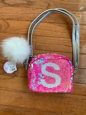 """NWT Justice Little Girls Sequin Purse Initial """"S"""""""