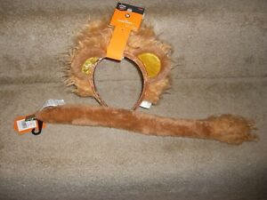 Hyde and EEK Cat LION TAIL & HEADBAND EARS Costume - One Size - New With Tags