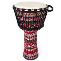 AKLOT Djembe African Drum 10 Inch Red Goat Skin Drum Head