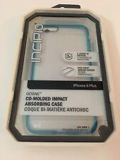 Incipio Octane Impact Case Cover for iPhone 6 Plus 6S Plus - Frost w/ Blue Trim