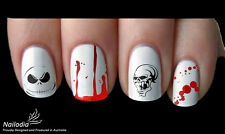 Halloween Horror Scary Vampire Nail Art Sticker Water Transfer Decal Tattoo 03