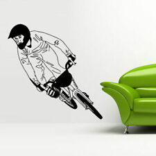 Wall Decal Sticker Vinyl Bedroom Great Bicycle Sport Bmx Jump Bike Cycle M837