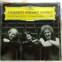 SHOSTAKOVICH: No 2 Op 67, TCHAIKOVSKY: Op 50. TRIOS. ARGERICH; KREMER; MAISKY.