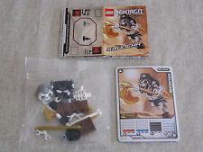 LEGO 2174 Ninjago Kruncha Rara Figura con le mani orizzontale. NUOVO + 5 carte da gioco