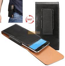 Etui Pochette POUCH Clip Ceinture Rotatif 360° Noir compatible HTC Desire X