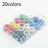 20Pcs Bobbins Sewing Machine Spools Case With Sewing Thread For Sewing Machine
